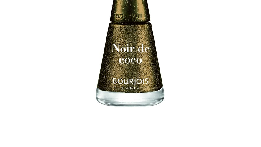"""Le vernis à ongles 1 Seconde en teinte """"Noir de Coco"""" issu de la collection Betty x Bourjois."""