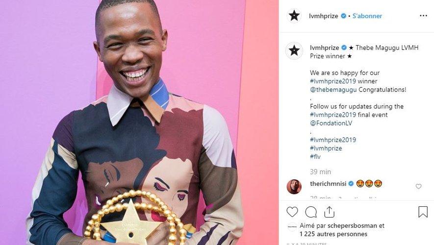 Thebe Magugu est le grand gagnant du Prix LVMH 2019.
