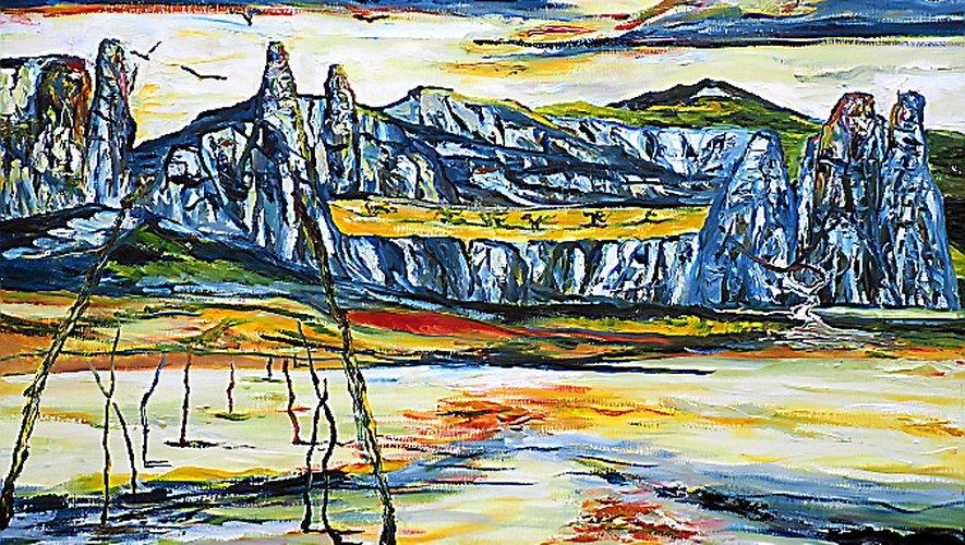 Une des œuvres exposées. Daniel Jammes.