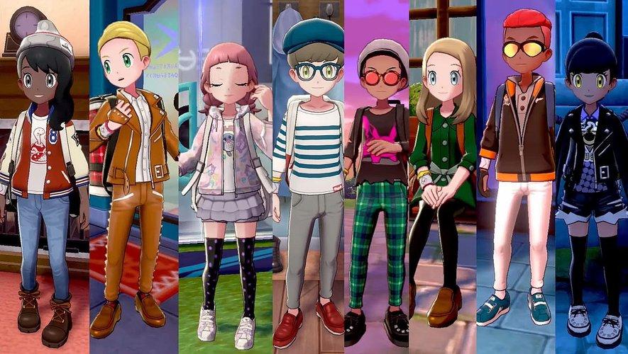 """Une nouvelle bande-annonce de """"Pokémon Epée et Bouclier"""" montre la personnalisation des personnages."""