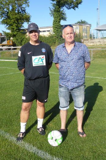 Le coach de l'équipe fanion aux côtés du président Dominique Barbier de Reulle.