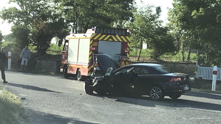 Le choc a été violent entre les deux véhicules.