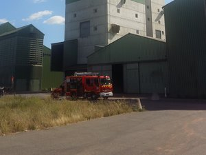 Intervention difficile pour les pompiers.