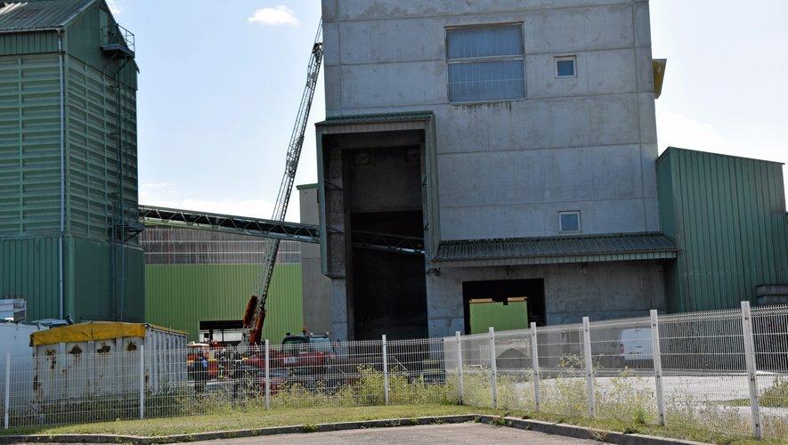 La grande échelle de 30 mètres semble bien petite par rapport aux 70 mètres du silo.RBEN20190905