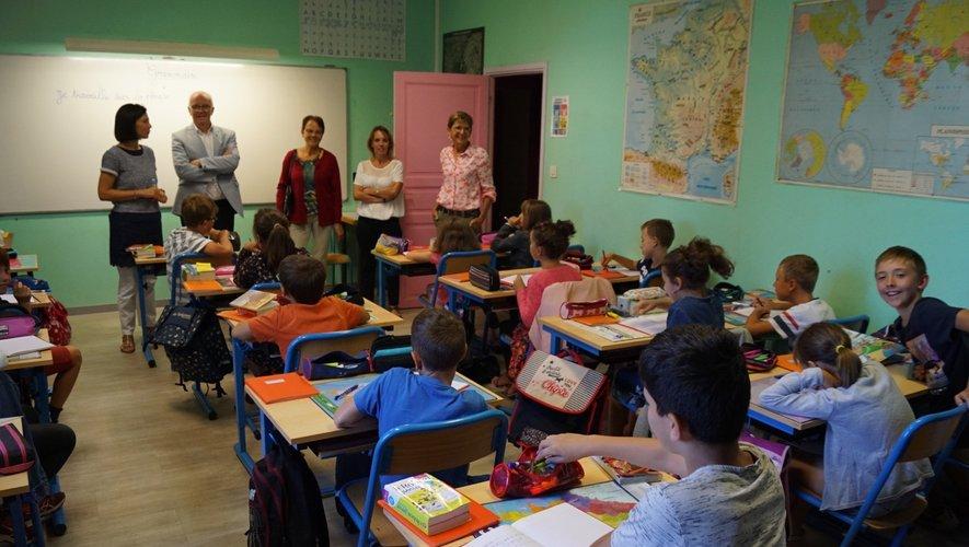Les élèves sont ravis en cette deuxième journée d'école.