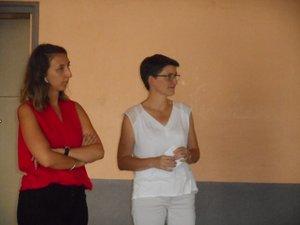 Amandine Cau, à gauche, est remplacée par Catherine Brousse au poste de directrice du CIAS.