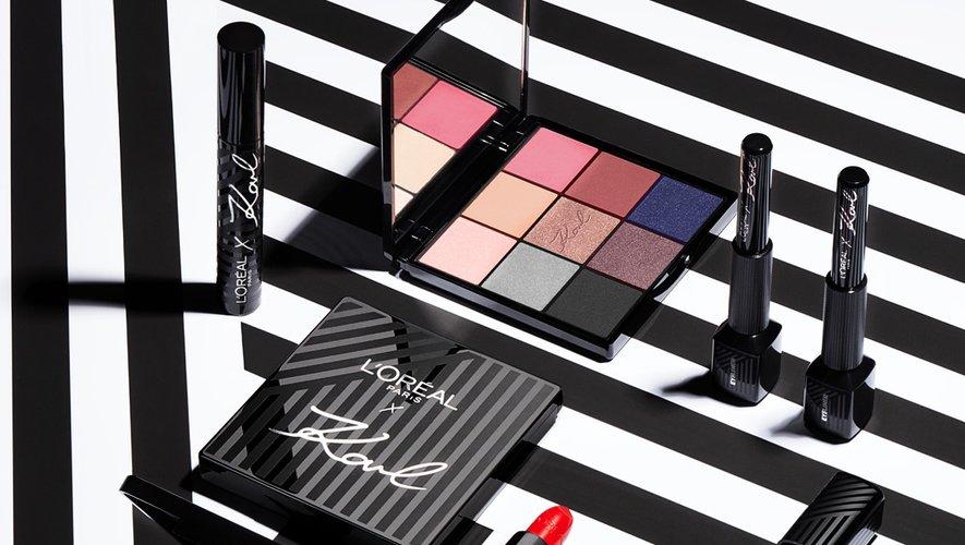 Les essentiels make-up issus de la collaboration entre Karl Lagerfeld et L'Oréal Paris.