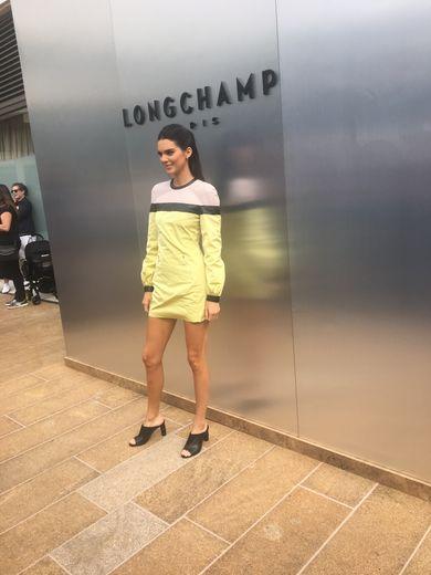 Kendall Jenner au défilé Longchamp à New York.