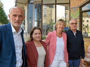 Stéphane Mazars, Yolène Pagès, Anne Blanc et Jean-François Rousset.