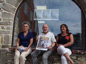 Chantal Guillot, Guy Pezet et Jocelyne Carle, tout sourire avant d'ouvrir la 22e édition qui se poursuit jusqu'au 15 septembre à Rieupeyroux.