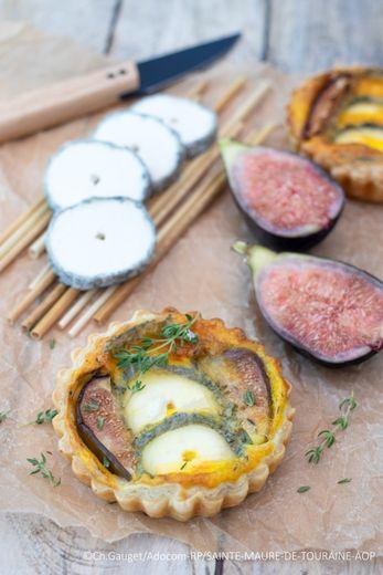 Tartelettes au Sainte Maure de Touraine AOP et aux figues