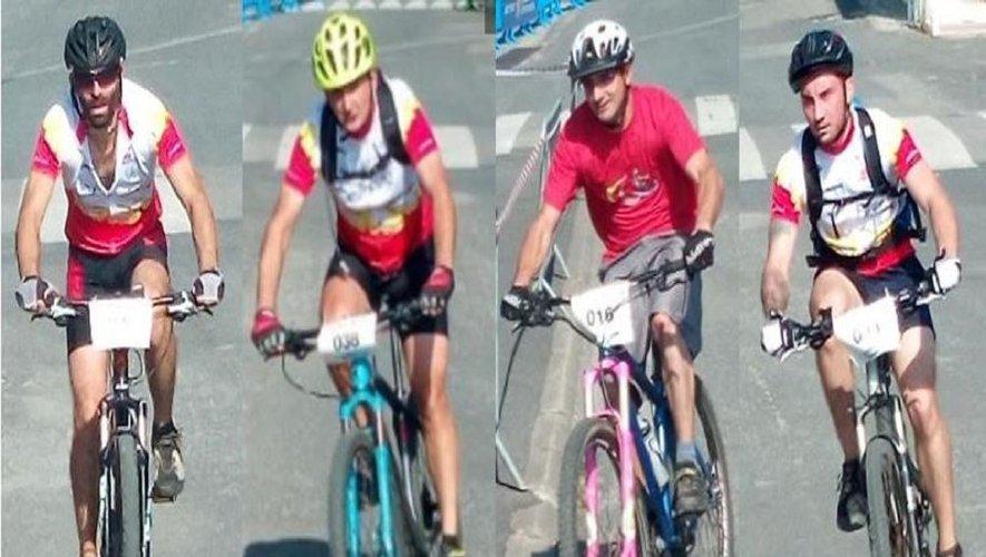 Les cyclistes de Colombiès.