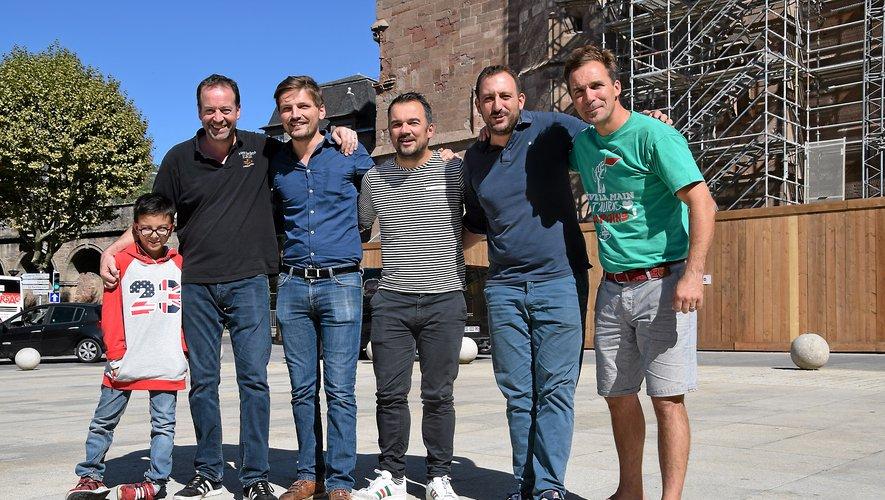 De gauche à droite : Gilles Loiseau (Les Colonnes), Pierre Devin (La Compagnie, associé à Angy Féral, absente), Mathieu Regourd (L'ô12), Benjamin Bergès (Le Coq) et Gilles Pradalier (L'ô12).