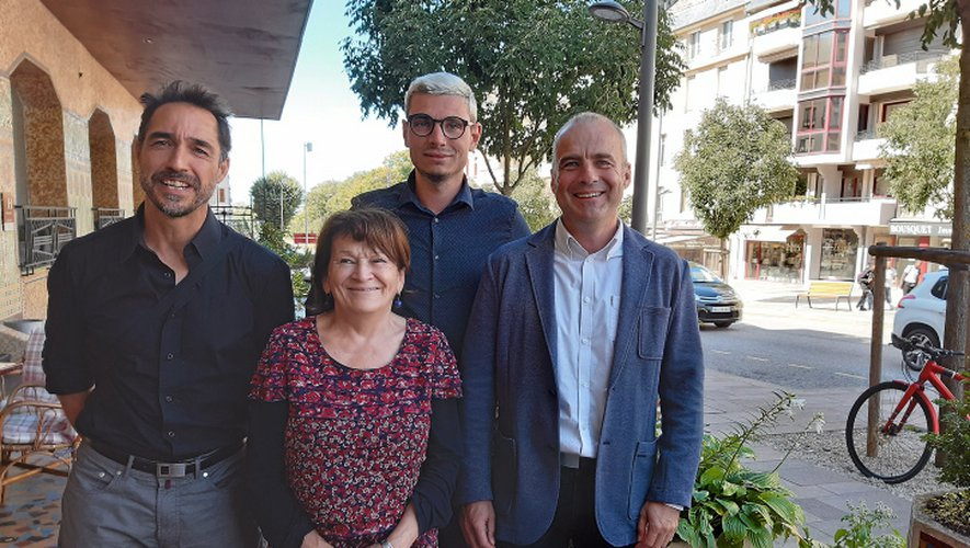 Frédéric Haméon, Sébastien Cabrol et William Fraysse, nouveaux visages « Verts » aux côtés de Marie-Claude Carlin.