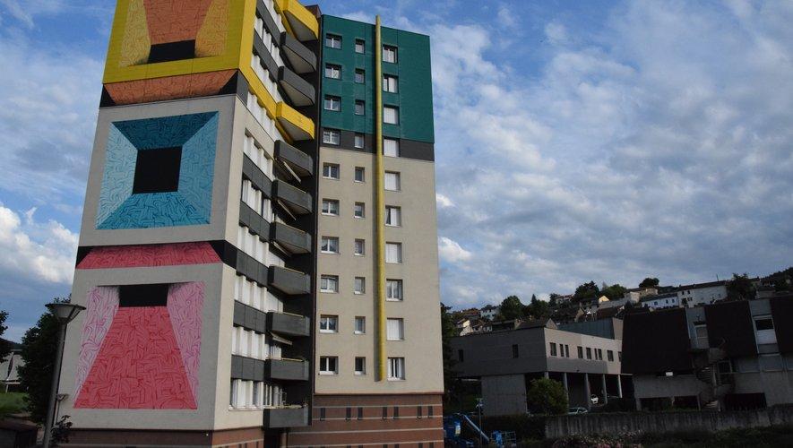 Astro a peint les trois façades de l'immeuble du Parc.