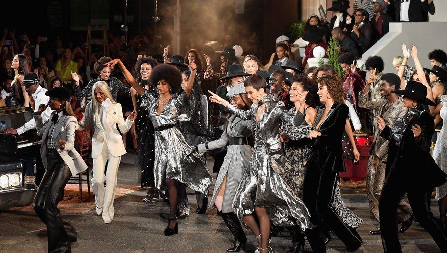 Pour son défilé TommyNow, Tommy Hilfiger a vu les choses en grand avec un show grandiose organisé à l'Apollo Theater à Harlem. New York, le 8 septembre 2019.