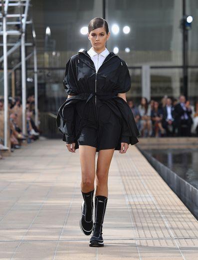 La silhouette sporty chic de Longchamp. New York, le 7 septembre 2019.