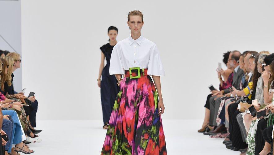 Les longues jupes romantiques, ultra chic, avec leurs imprimés abstraits, de Carolina Herrera. New York, le 9 septembre 2019.