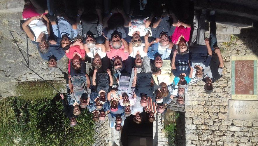 Le club des Chênes en balade  dans les gorges de l'Hérault