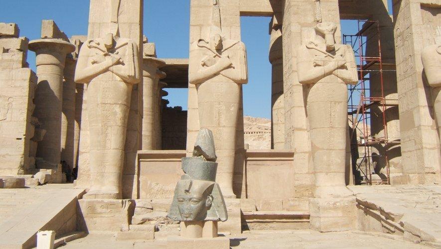 L'égyptologue aveyronnaise d'adoption a effectué de très nombreuses fouilles sur le site de Ramasséum.