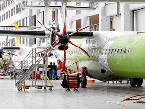 Le site de Toulouse produit chaque année quelque 80 appareils, ATR 42 et 72