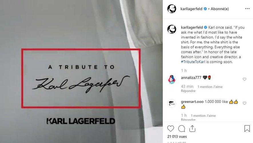 La collection de chemises blanches réalisées en hommage à Karl Lagerfeld sera proposée à la vente dès le 26 septembre.