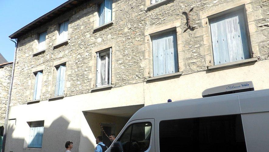 Bernard Foursac vivait au rez-de-chaussé de cet immeuble de la rue Emilie de Rodat à Villefranche-de-Rouergue.