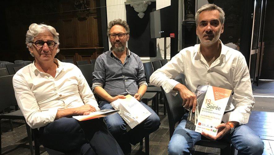 Pierre-Marie Puech, Philippe Pradal et Pierre Censi.
