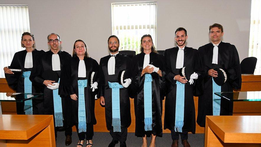 Sept magistrats, six au siège et un  au parquet ont été installés.