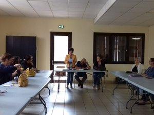 Réunion au centre social avec le club le 9 septembre