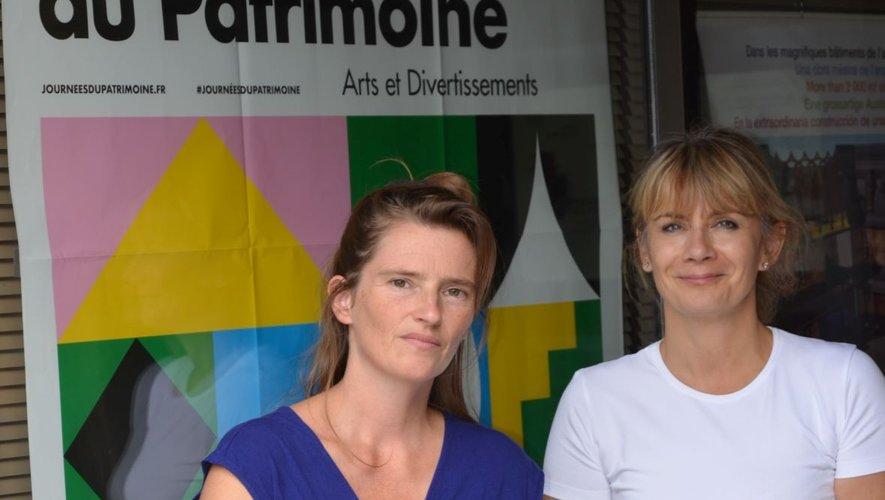 Laurence Layrolles et Olivia Maillebuau : une belle rencontre pour une belle participation à la célébration des 40 ans du musée à l'occasion des journées du patrimoine.