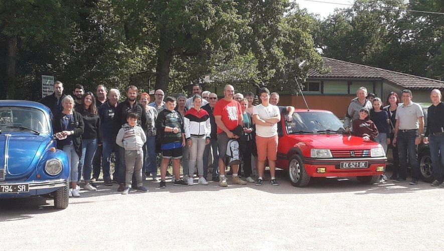 Les participants ont fait une halte à Foissac.