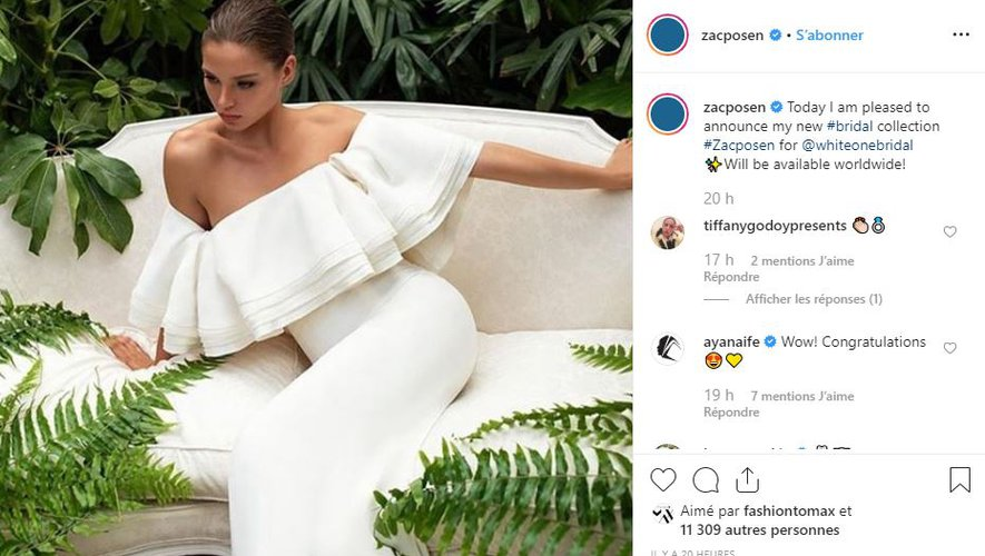Zac Posen fait équipe avec le label White One pour une collection de robes de mariée.