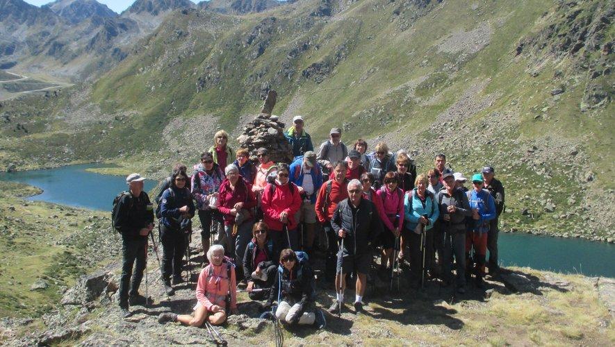 Les adhérents de Rando Évasion qui ont pris part à ce séjour en Andorre.