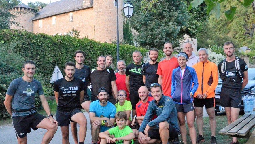 Ce sont une vingtaine de coureurs qui se sont retrouvés pour ce premier entraînement de la saison, sur les sentiers de Salles-la-Source.