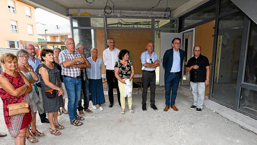 Lors de la visite, le 17 septembre, de la maison de santé du Faubourg.