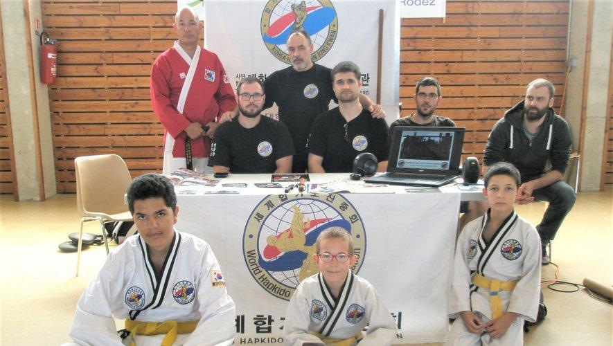 L'équipe du hapkido monastérien.