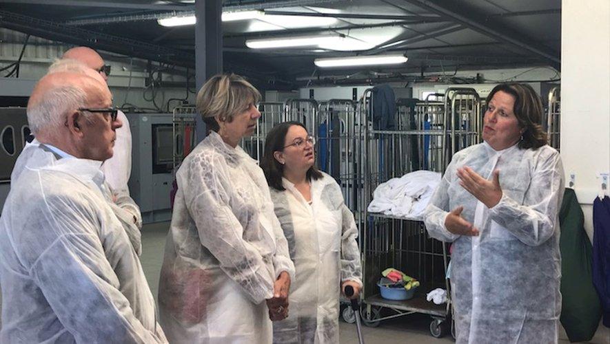 Au cours de la visite de l'entreprise et des différents postes de production, orchestrée par les deux co-gérants.