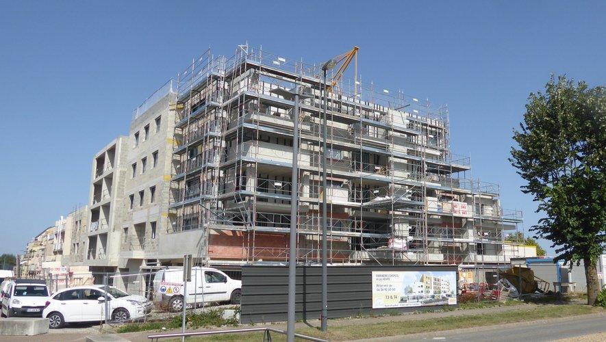 L'immeuble Cassiopée en cours de construction devrait être livré en 2020.