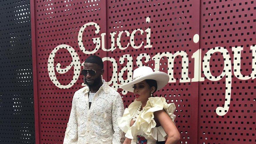Les invités au défilé de la maison Gucci à Milan.