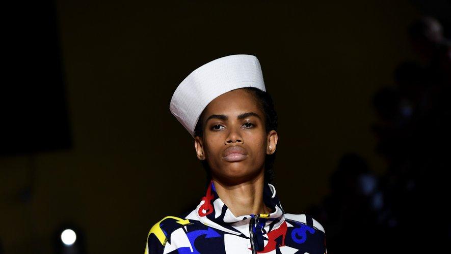 Le style marin, ultra féminin, chez Benetton. Milan, le 17 septembre 2019.
