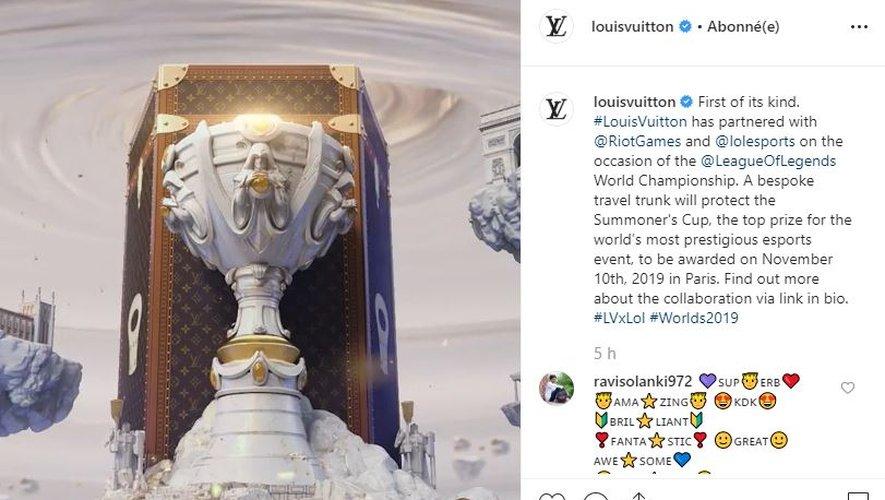 Louis Vuitton a créé la malle de transport du trophée des Mondiaux de League of Legends.