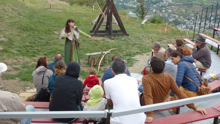 Tir à l'arc au château de Calmont.
