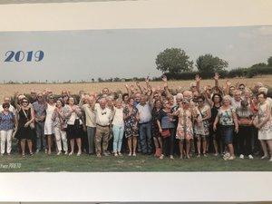 Comme chaque année, le groupe pose pour la traditionnelle photo.