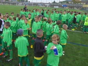 Les jeunes licenciés de l'école de foot de Luc-Primaube Football Club.