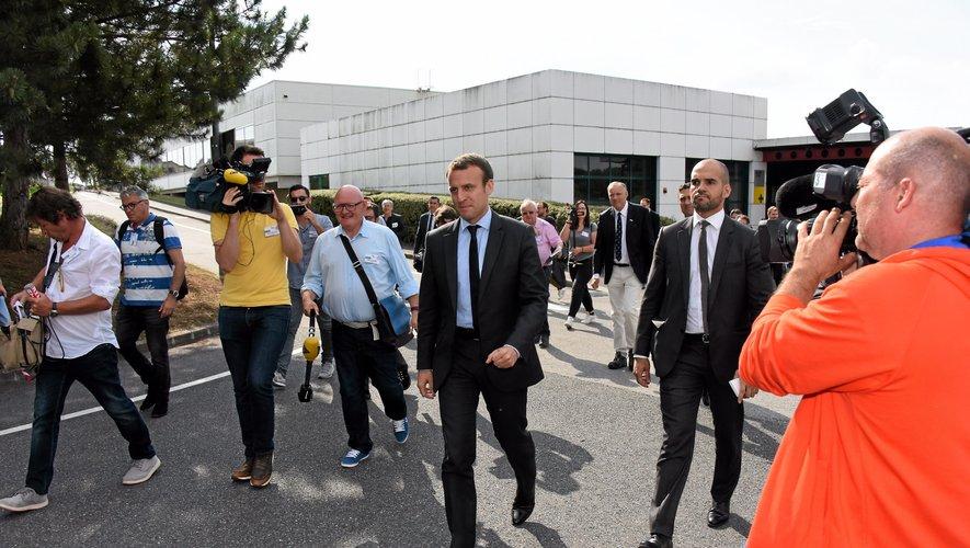 En 2016, alors ministre de l'Economie, Emmanuel Macron avait visité le site de Bosch.
