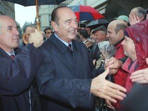 Jacques Chirac à Rodez à l'occasion de l'Assemblée des départements.