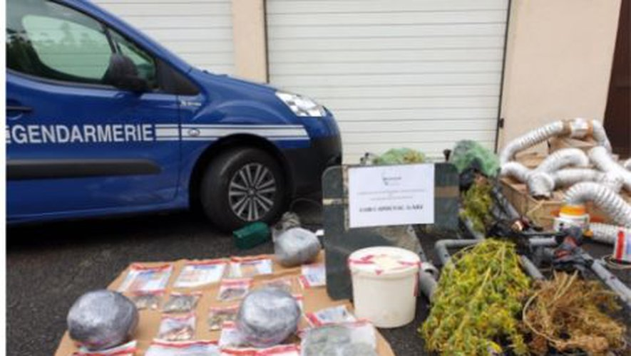 Toutes sortes de drogues ont été découvertes par les enquêteurs capdenacois.