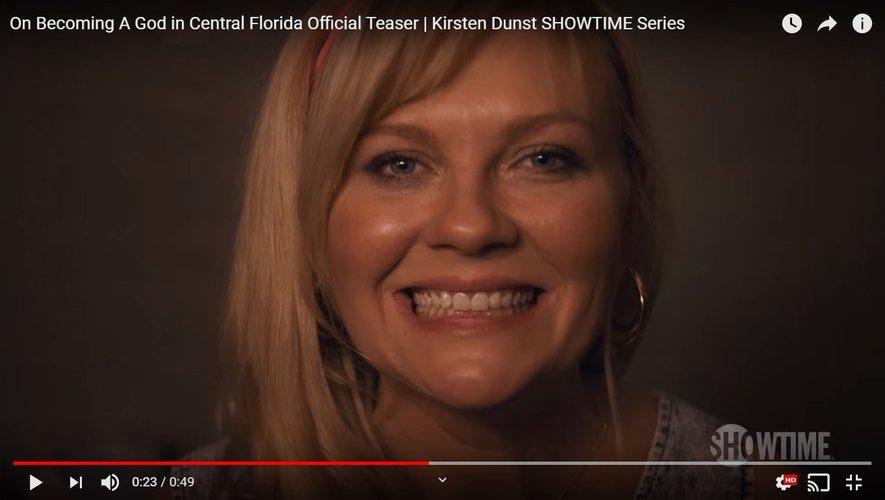 "Kirsten Dunst incarne le personnage principal de la dramédie ""On Becoming A God In Central Florida""."