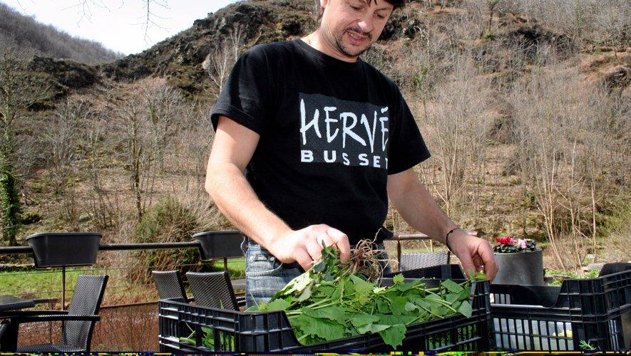 Hervé Busset, chef à Conques.